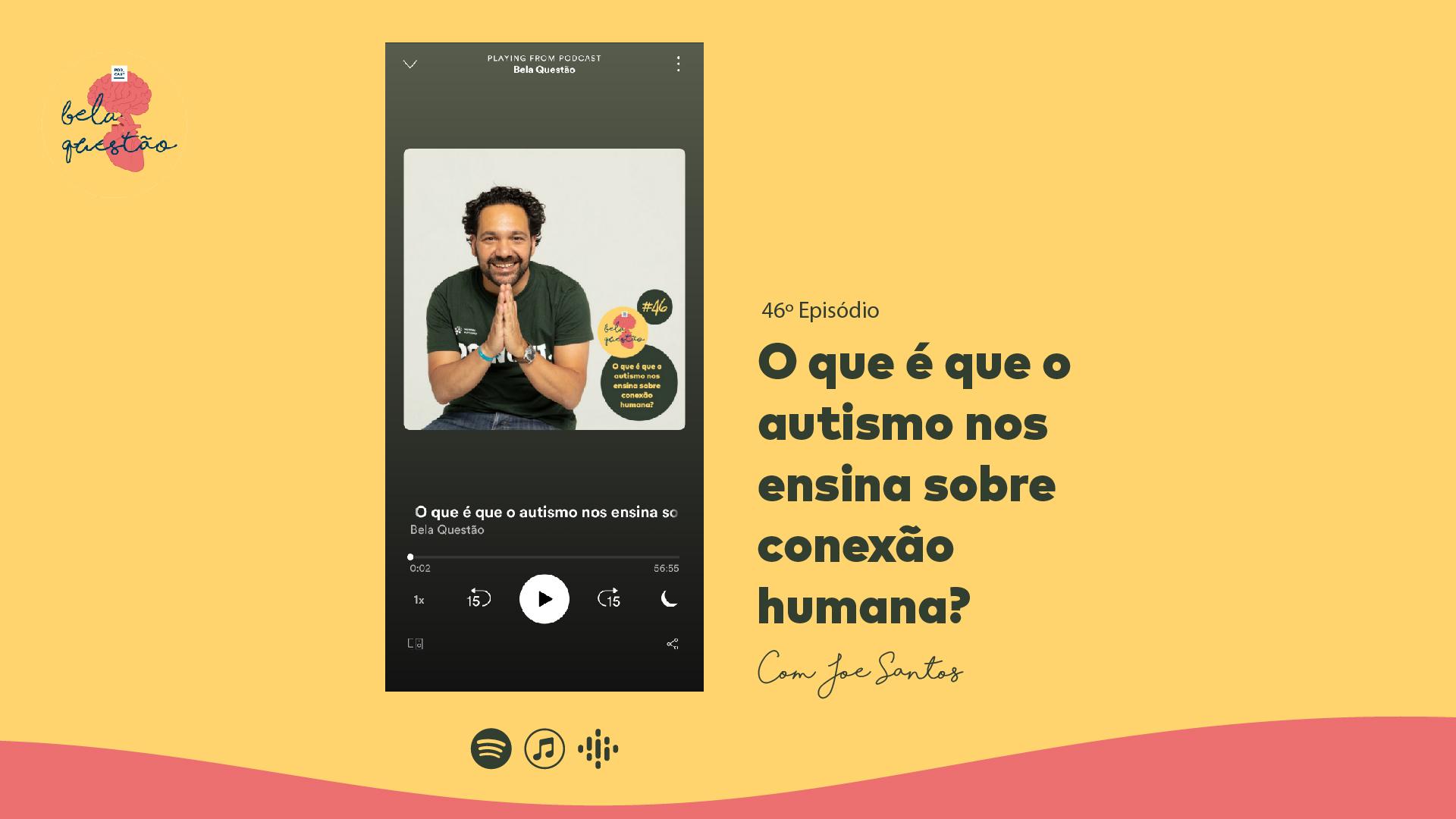 Joe Santos em entrevista ao podcast Bela Questão